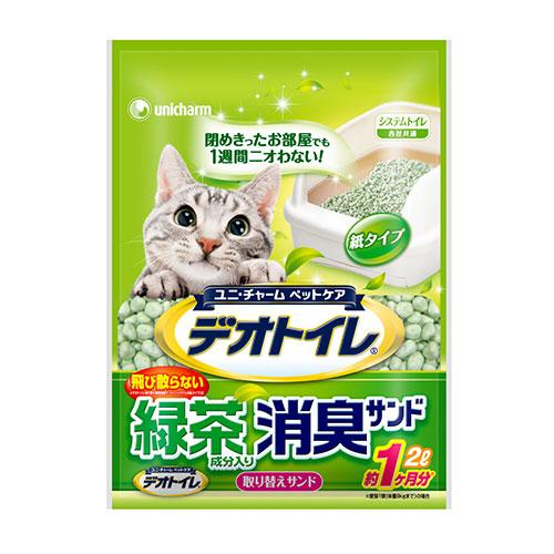 デオトイレ 飛び散らない緑茶成分入り消臭サンド 2L