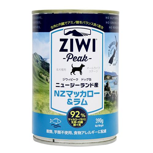 ドッグ缶 NZマッカロー&ラム 390g